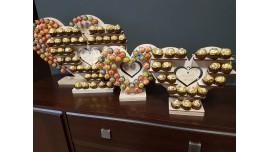 Stojak Serce Średni na Ferrero Rocher lub/i Rafaello