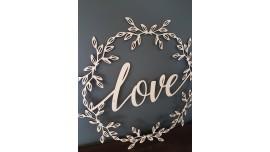 Love w wianuszku 65x65cm