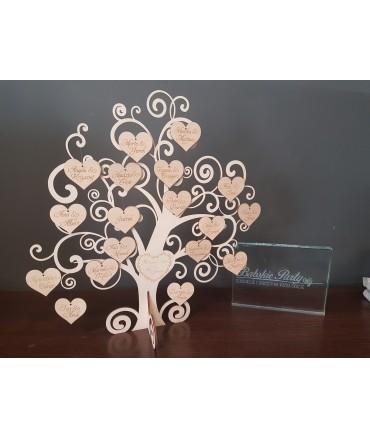 Księga gości w formie drzewka