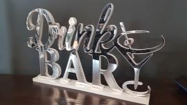 Drink Bar- lustrzany Napis 3D
