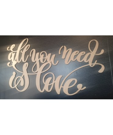 All you need is love - drewniane
