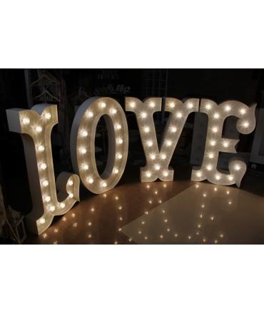 Napisy świetlne LOVE WESTERN